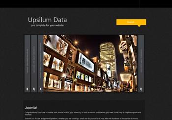 قالب رایگان upsilum data برای جوملا 2.5