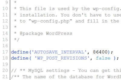 POST_REVISIONS_AUTOSAVE